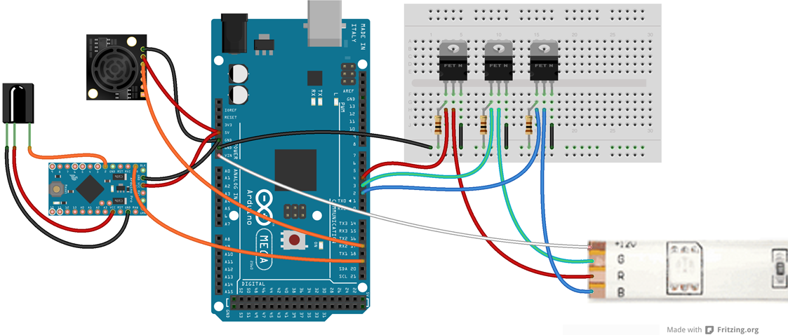 Arduino Mega Control of Pixels Relays through Vixen 3
