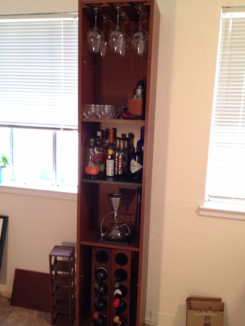 Inspirational Wine Rack and Liquor Cabinet